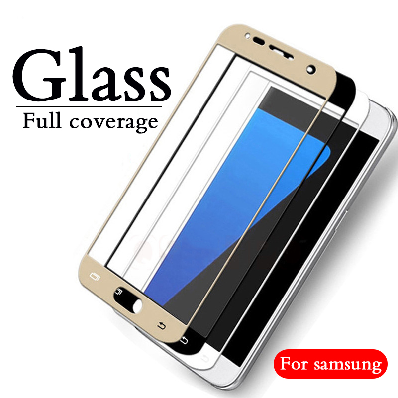 Fulll Cover Tempered Glass For samsung j5 2017 Screen Protector For Samsung Galaxy J2 j3 j5 j6 j7 Pro Prime 2015 2016 2018 Film image