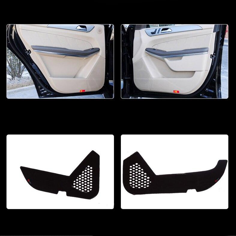 Ipoboo 4pcs Fabric Door Protection Mats Anti-kick Decorative Pads For Benz GL Series 2013-2015 ipoboo 4pcs fabric door protection mats anti kick decorative pads for hyundai elantra 2012 2015