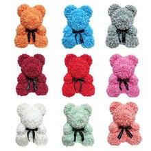 2019 Прямая доставка 25 см для мыльной пенки медведь розы искусственные подарки на новый год для женщин подарок Валентин
