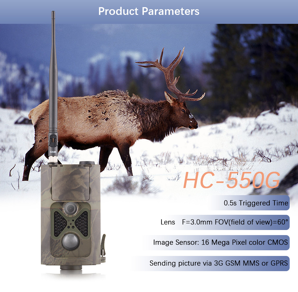3G-trailcamera Jachtwacht Scout Boerderij Bewaking Cam-tijdspanne - Jacht