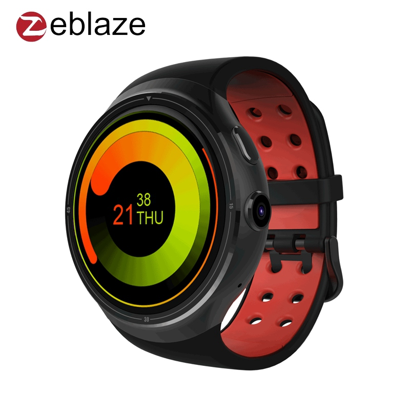 Zeblaze THOR 3G GPS Smartwatch Phone 1.4 inch Android 5.1 MTK6580 1.3GHz 1GB+16GB Smart Watch BT 4.0 Wearable Devices VS Huami smart baby watch q60s детские часы с gps голубые