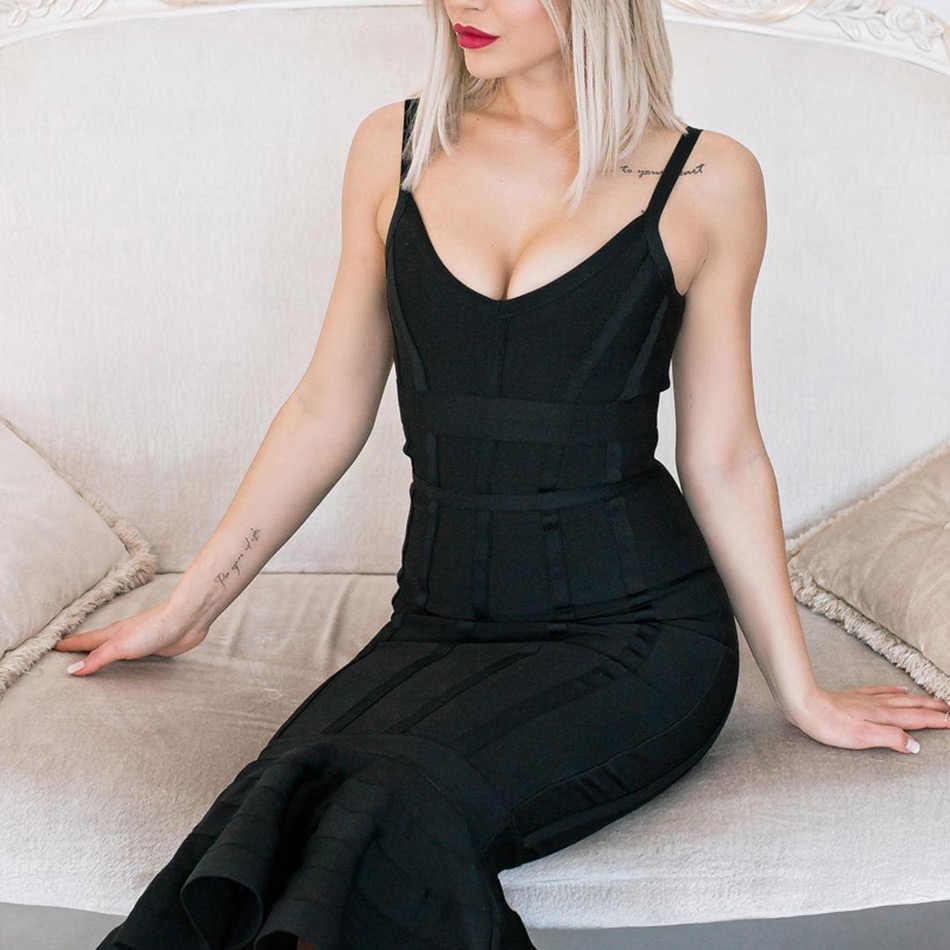 Seamyla/летнее Бандажное платье для женщин 2019, розовое платье с синими бретельками, Клубные платья Русалочки, сексуальные платья знаменитостей, вечерние платья