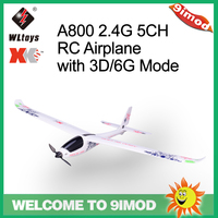 Original WLtoys XK A800 2.4G 5CH RC Airplane with 3D/6G Mode 780mm Wingspan EPO Aircraft Fixed Wing