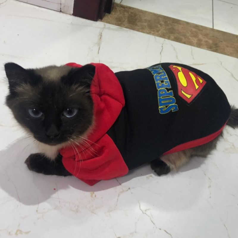 Cartoon Kat Hoodies Jas Katoenen Kleding Voor Katten Winter Kat Kostuum Kedi Sweatshirt Katten Kleding Kat Producten Voor Huisdieren
