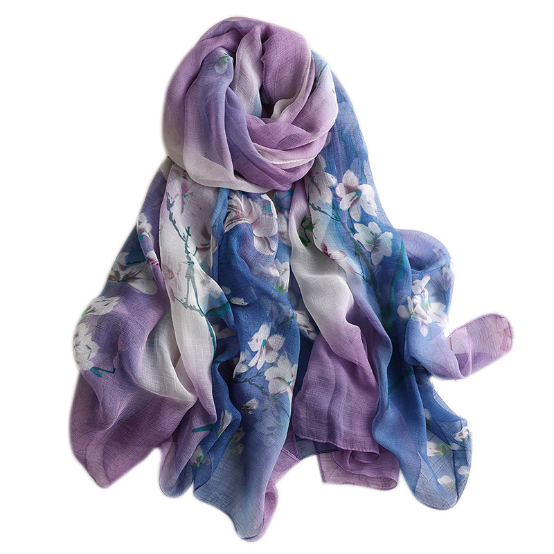 Apparel Accessories Trustful 2019 Summer Large Scarf For Women Silk Scarves Shawls And Wraps Lady Pashmina Soft Print Sunscreen Bandana Hijabs Beach Stoles