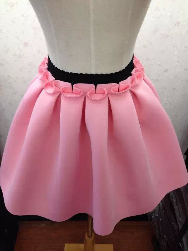 2015-Summer-style-2-days-send-Neoprene-new-space-cotton-elastic-force-high-waist-skirts-pleated (1).jpg