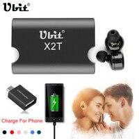Ubit X2T True Wireless Earphone With 1500mAh Power Bank Microphone Noise Cancelling Headset Bluetooth In Ear
