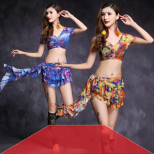 Good Quality belly dance costume set bellydance pratice clothing 2colors Top&skirt M, L