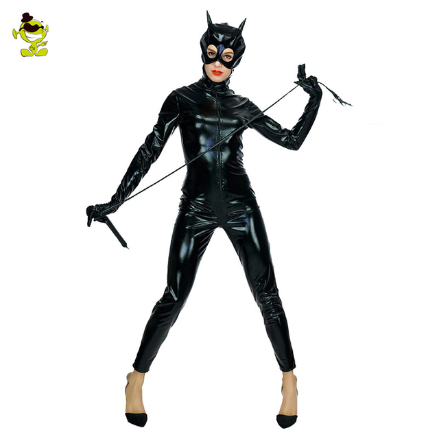 Adult' Catwoman Costume Sexy Black Appeal Lingerie Catsuit Fancy Superhero  Catwomen Cosplay Halloween Costume Supergirl Bodysuit 8cc5cad11e02