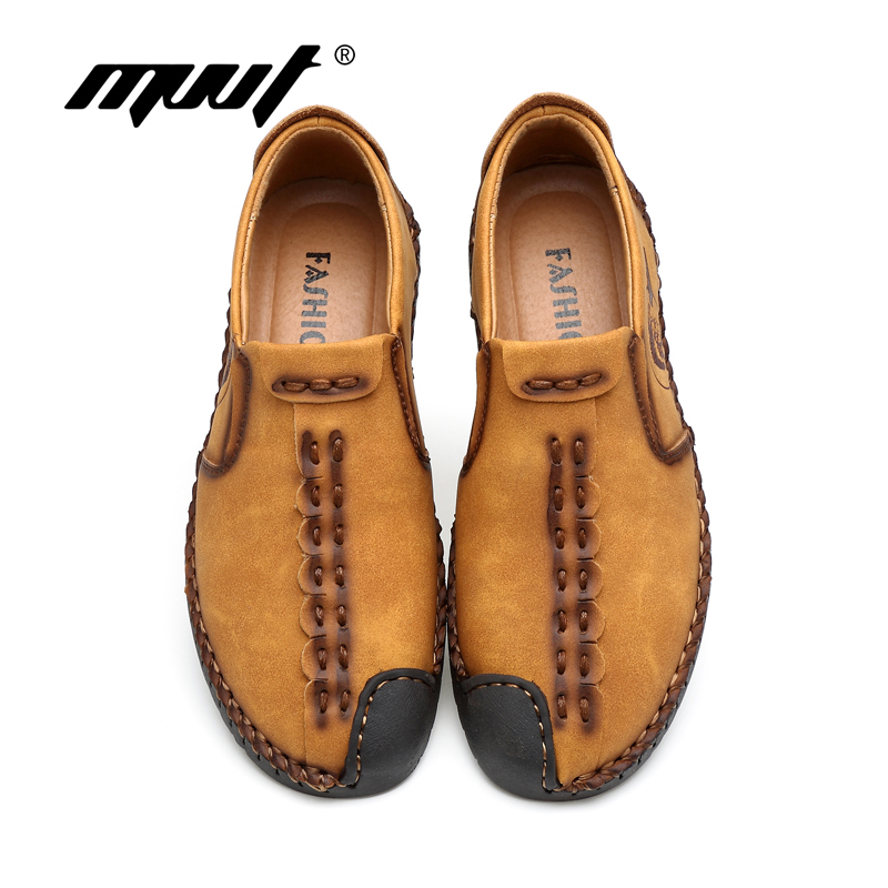 Classic Comfortable Men Casual Shoes Loafers Men Shoes Quality Split - Men's Shoes - Photo 4