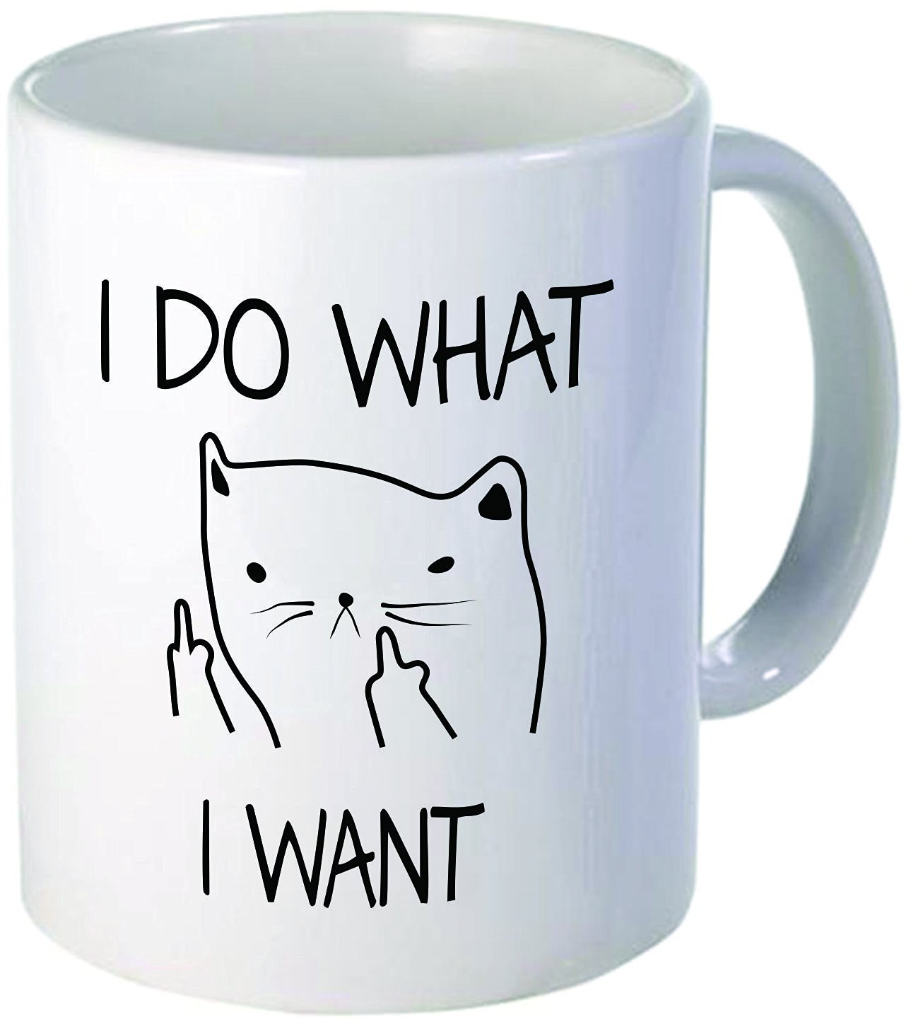 A I Do What I Want Cat A Thin CatCeramic Mug Funny Coffee Mug