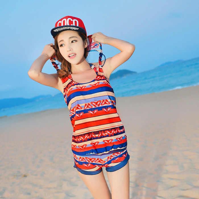 2017 new swimsuit lady bikini baja empat potong tray penutup perut dada kecil mengumpulkan pakaian renang Korea versi