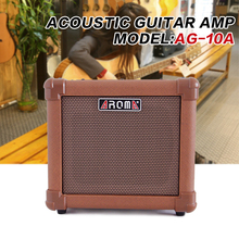 Aroma AG-10A Acoustic Guitar AMP Audio Amplifier Loudspeaker Box with Gauge Audio Cable, Hand Strap and Shoulder Strap