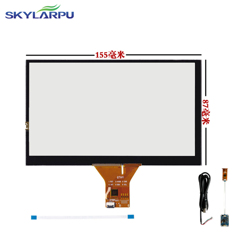 skylarpu 155mm*87mm Touch screen Capacitive touch panel Car hand-written screen Android  ...