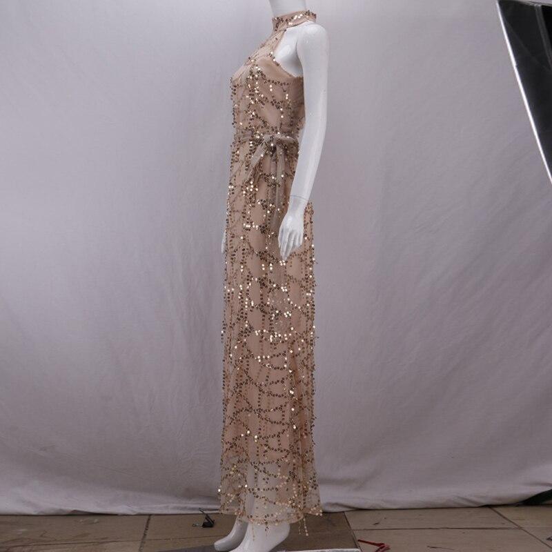 De Gaze Piste Nouveau Femmes 2018 Designer Bling Paillettes Parti Robe Mode Maxi Longue AUZOUxH5