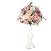 Artificial 30/40cm Wedding Flower Ball Simulation Rose Hydrangea Flowers Hemisphere Roman Column Home Party Decor Flores