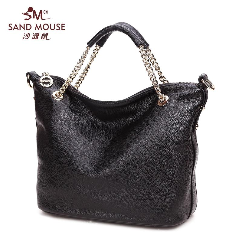 SAND MOUSE New Shoulder Bags Women Genuine Leather Handbag Crossbody Bag Ladies Fashion Hand Bags Famous Brand Designer Totes