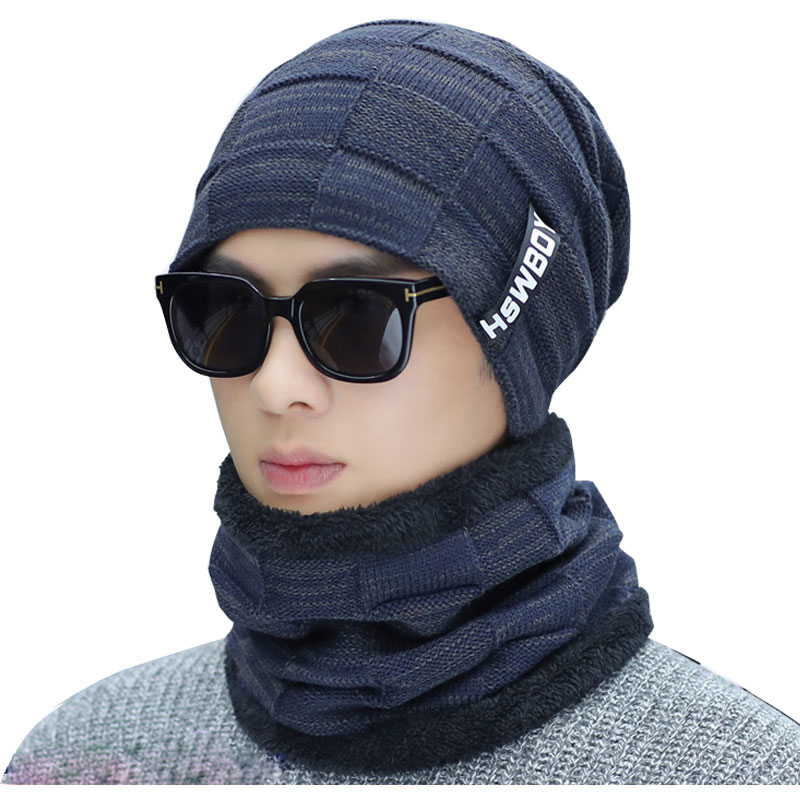 52e20f3f704e6 mens beanie winter hats for women beanies neck warmers black knit ...