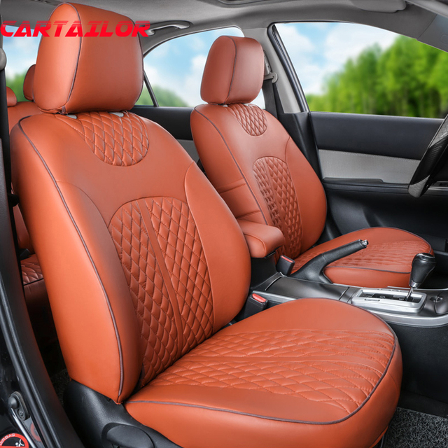 CARTAILOR Car Seats For Infiniti Qx56 Qx80 PU Leather Seat Covers Supports Full Set
