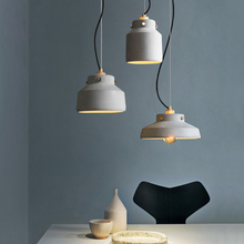 The Nordic Retro Pendant Lights Creative Personality Bedside Bar Coffee Cement Lamps Dining Room Single-head  Home Decor fashion personality nordic modern pendant lights minimalist dining room single industrial wind bar pendant lamps za fg710