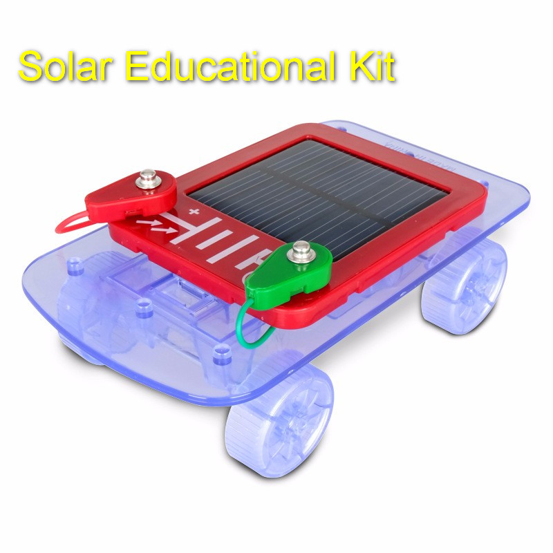smart electronic kit for kids solar car toy ec block electronic building block gift for