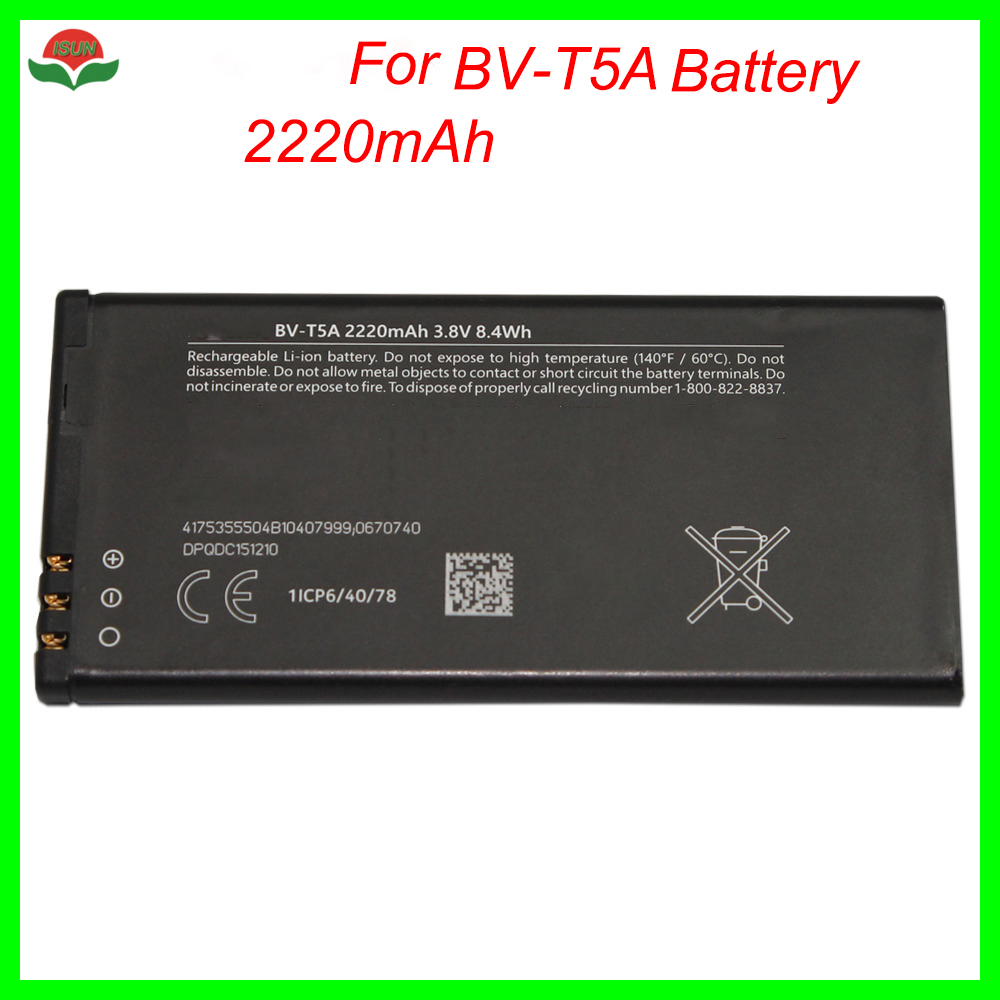 ISUN Battery For <font><b>Nokia</b></font> Lumia 730 735 738 RM1038 RM1040 1038 <font><b>1040</b></font> BV-T5A BVT5A Cell Phone battery image
