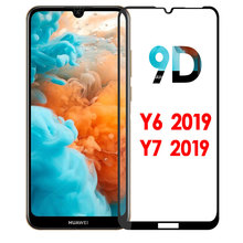 9D For huawei y6 2019 glass for huawei y7 2019 tempered glass protective film huaweiy6 huavei y7 huawey y72019 screen protector