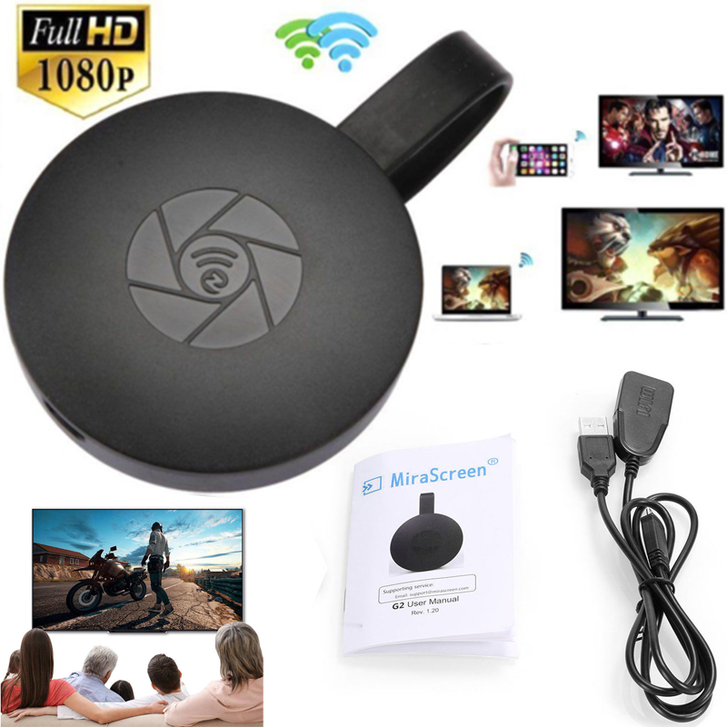 Wireless Wifi Airplay Screen Mirroring Sharing HDMI Stick Media Streamer Audio Video Display Adapter For iOS