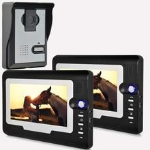 Rainproof HD 7 TFT Color Video door phone Intercom Doorbell System Kit IR Camera doorphone monitor