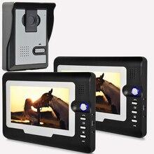 "Rainproof HD 7"" TFT Color Video door phone Intercom Doorbell System Kit IR Camera doorphone monitor Speakerphone intercom"