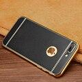 Estilo vintage phone case para iphone 7 plus luxo litchi grain suave tpu silicone case capa voltar para iphone 7 7 plus saco do telefone