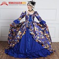 Ladies' Printing Rococo Baroque Gown Queen Dress Victorian Dresses Marie Antoinette Prom Gown