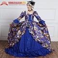 Señoras de la impresión de la reina vestido dress vestidos victorianos marie antonieta barroco rococó prom vestido