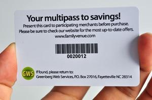 Image 4 - Лояльность карты пользовательских пластиковых штрих кодов кредитной карты/подарок Скидка карты печати визитные карточки уникальный штрих код