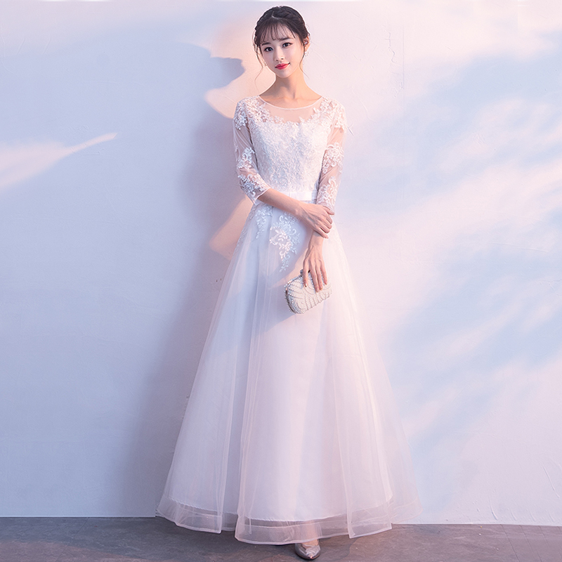 Image 3 - DongCMY Prom Dresses Long White Color Lace Flower Women Married  Party Dress Gownprom dressesprom dress fashionprom fashion dresses -