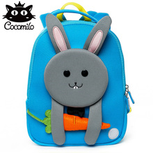 3D Kids Bag Backpack For Girls Boys Baby Small Bags Rabbit Pattern Kindergarten Backpack Anti-lost School Bag Mochila Escolar rainbow baby 3d model shark kids baby bags waterproof wear resistan with anti lost rope boys girls child s school bags backpack