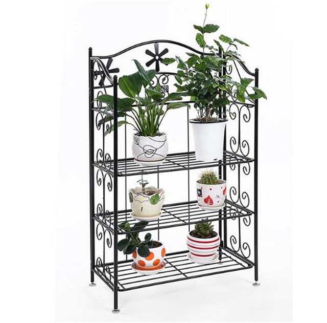 4 Tier Steel Versatile Indoor Plant Shelf Decorative Metal Plant
