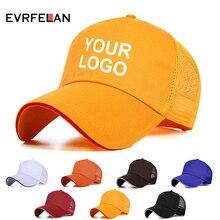 fc5a76ae2c68c Evrfelan gorra de béisbol logotipo personalizado mujeres hombres del  casquillo del Snapback de Color sólido papá sombrero visera.