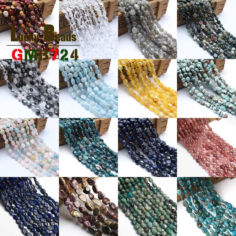 8-10mm Irregular Natural Stone Bead Mookaite/Clear Quartz Crystal/Labradorite/Indian Agata Stone Bead For Jewelry Making 15inch