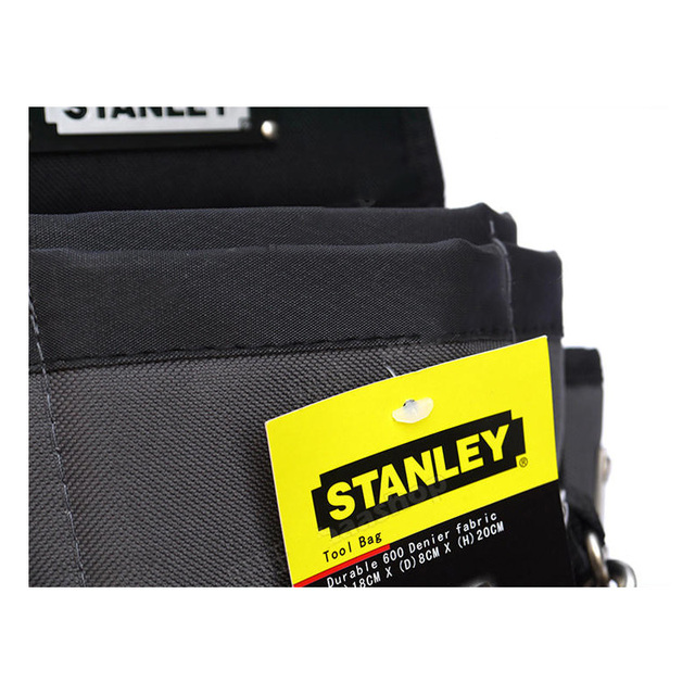 Stanley carpenters tool waist bag storage hammer holder bags work pocket gadget utility pouch with adjustable belt electricians 4