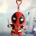 1pcs mini 12cm Marvel Movie Deadpool Pendant Soft Keychain FUNKO POP Deadpool Spiderman Plush Doll Toy action figure gift