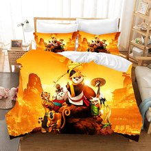 Kung Fu Panda Cartoon 3d Bedding Set Duvet Covers Pillowcases Panda Do Kung Fu Comforter Bedding Sets Bedclothes Bed Linen the animals of kung fu panda starter level cd isbn 9781910173794