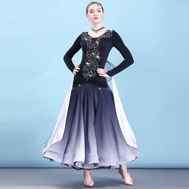 Robe de danse de salon moderne femmes nouvelle norme nationale danse robes professionnelles valse robe de danse Foxtrot H2484