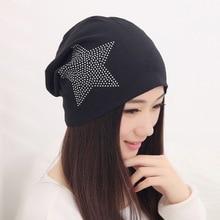 Девушка красота шапочка дизайнер индивидуальные новизна зимние шапки для женщин bling кристалл pattern повседневная skullies шляпа женщина бренда gorro