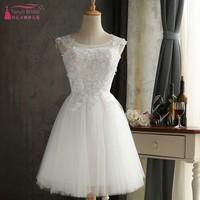 41421cce4 White Tulle Homecoming Dresses A Line Lace Appliques Short Special Occasion  Dresses White Cocktail Dress DQG309. Blanco de tul vestidos ...