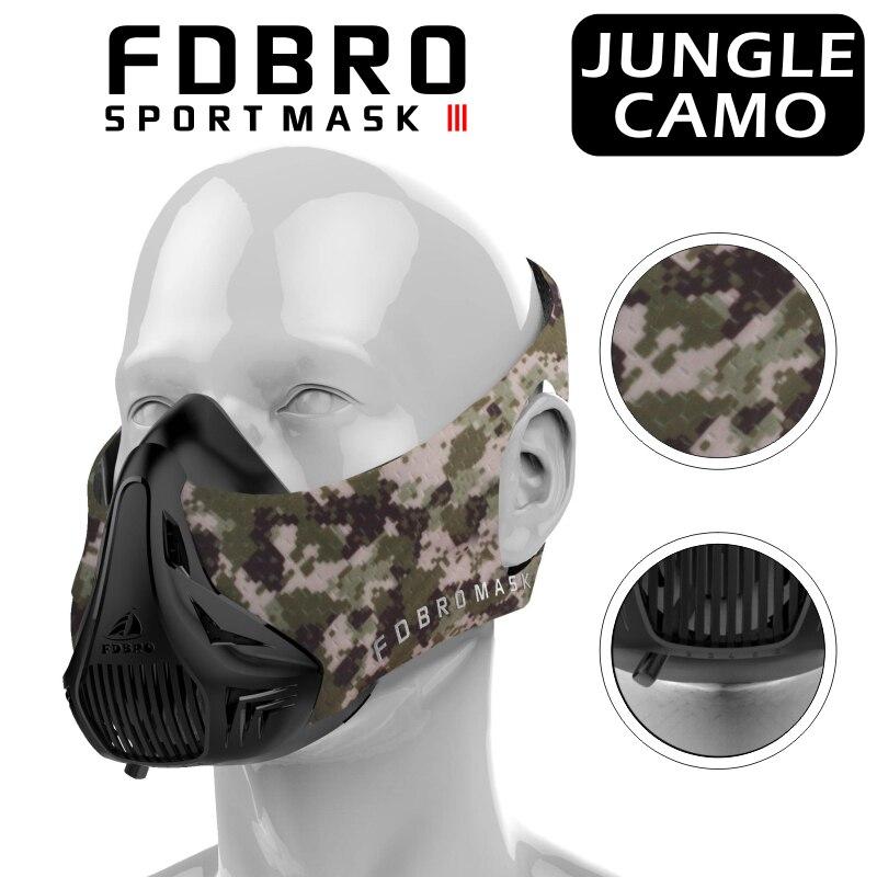 FDBRO Maschere Sportive Vendita Calda Uomini Donne Phantom Mask2.0 Formazione Fitness Sport di Buona Qualità Buona Qualità EVA Pacchetto Con BoxFree