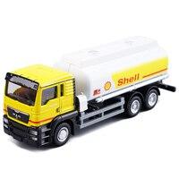 1: 64 Scala Diecaste Metal Man Tanker Truck Giocattolo Veicolo Modello di Auto petroliera Camion del Serbatoio Dell'olio Modello di Alta Simulazione Regalo Per I Bambini