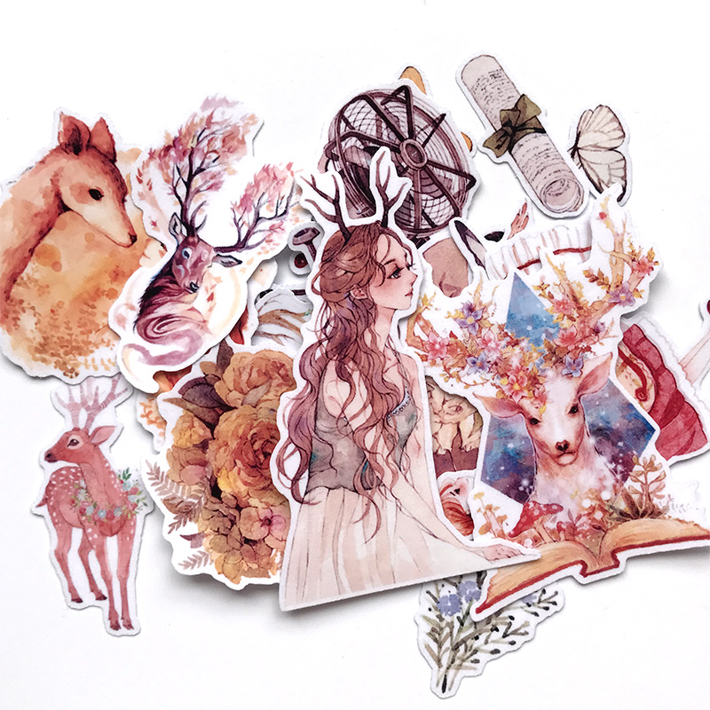 25pcs Creative Cute Self-made  Fashion Girl Scrapbooking Stickers /Decorative Sticker /DIY Craft Photo Albu