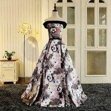 Вечерние платья милое платье с вырезом лодочкой, сексуальное кружевное платье с цветочным принтом, Длинные вечерние платья