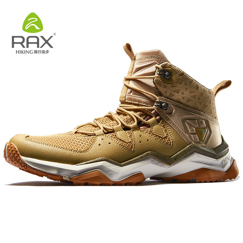 RAX Breathable Mens Hiking Shoes Outdoor Sports Sneakers For Men Trekking Sneakers Mesh Lightweight Outdoor Walking Shoes rax 2015 mens outdoor hiking shoes breathable mesh suede trekking shoes men genuine leather sneakers size 39 44 hs25